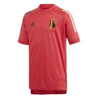 2020-2021 Belgium Adidas Training Shirt (Red) - Kids