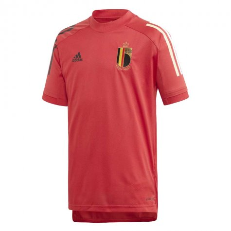 2020-2021 Belgium Adidas Training Shirt (Red) - Kids