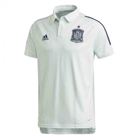 2020-2021 Spain Adidas Training Polo Shirt (Green)