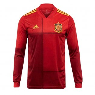 2020-2021 Spain Home Adidas Long Sleeve Shirt