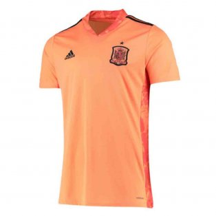 2020-2021 Spain Home Adidas Goalkeeper Shirt (Orange)