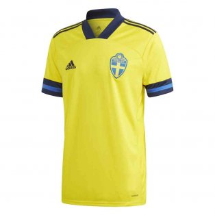 2020-2021 Sweden Home Adidas Football Shirt