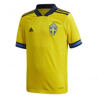 2020-2021 Sweden Home Adidas Football Shirt (Kids)