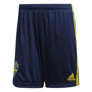 2020-2021 Sweden Home Adidas Football Shorts (Navy)