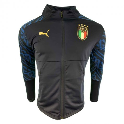 2019-2020 Italy Puma Stadium Away Jacket (Peacot) - Kids