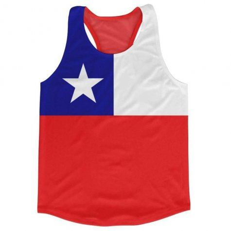 Chile Flag Running Vest