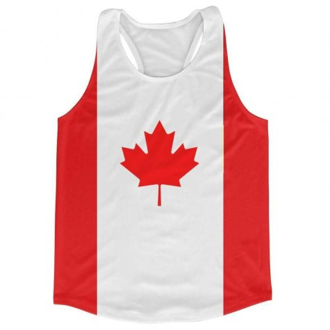 Canada Flag Running Vest