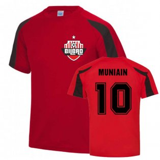 Iker Muniain Bilbao Sports Training Jersey (Red-Black).