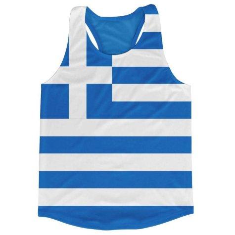 Greece Flag Running Vest