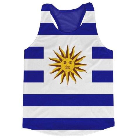 Uruguay Flag Running Vest