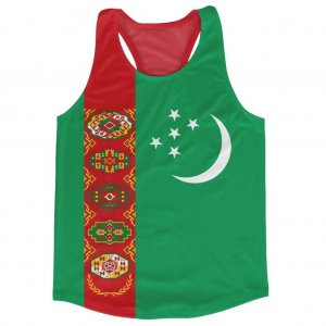 Turkmenistan Flag Running Vest