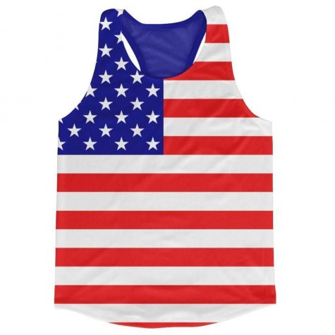 United States Flag Running Vest