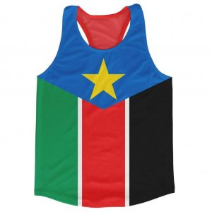 South Sudan Flag Running Vest