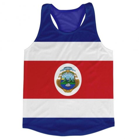 Costa Rica Flag Running Vest