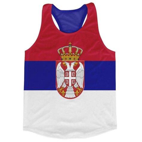 Serbia Flag Running Vest