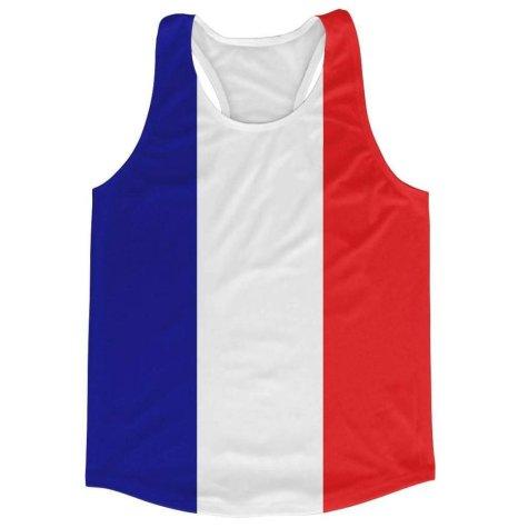 France Flag Running Vest