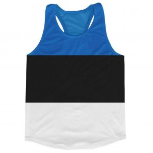 Estonia Flag Running Vest