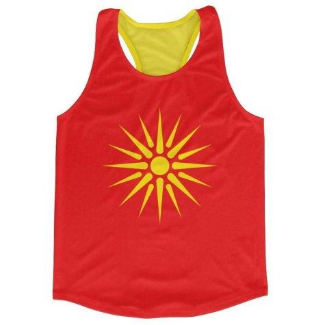 Macedonia Flag Running Vest
