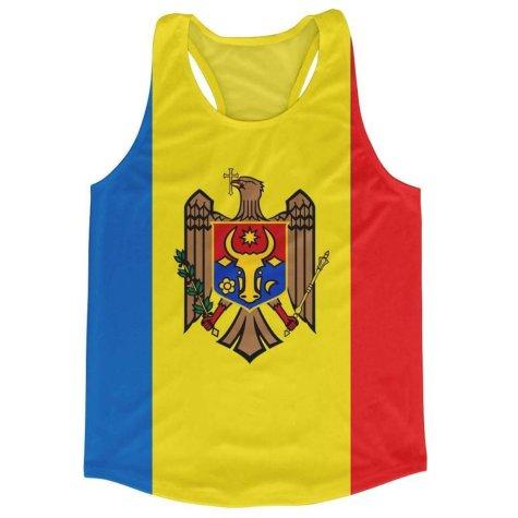 Moldova Flag Running Vest