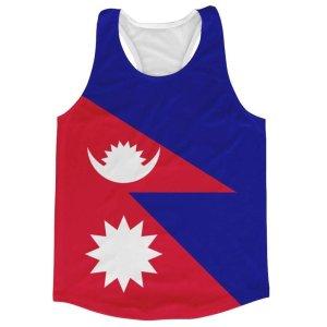 Nepal Flag Running Vest