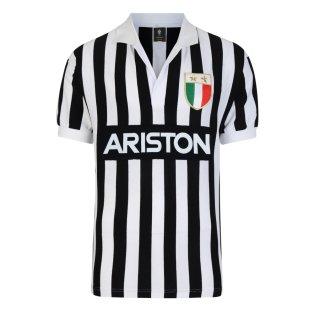 Score Draw Juventus 1984 Retro Football Shirt