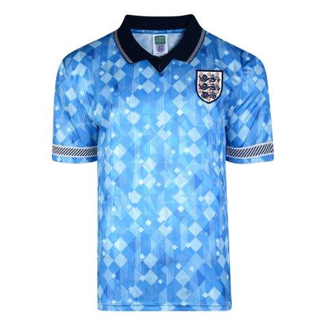 Score Draw England 1990 Third World Cup Finals Retro Football Shirt