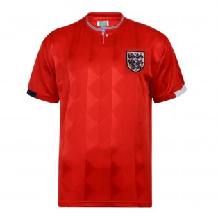 Score Draw England 1989 Away Retro Football Shirt