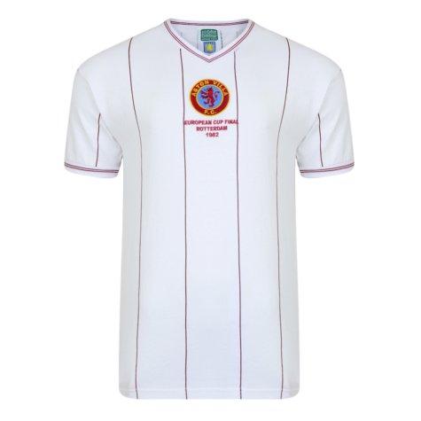 Score Draw Aston Villa 1982 Euro Final Retro Football Shirt