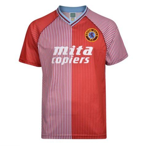 Score Draw Aston Villa 1988 Retro Football Shirt
