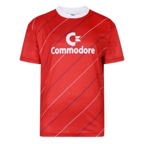 Score Draw Bayern Commodore 1984 Trikot Retro Football Shirt