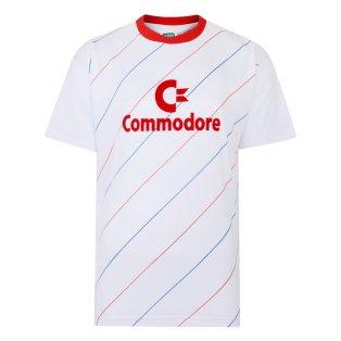 Score Draw Bayern Commodore 1984 Auswar Trikot Retro Football Shirt