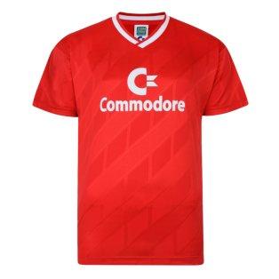 Score Draw Bayern Commodore 1986 Trikot Retro Football Shirt