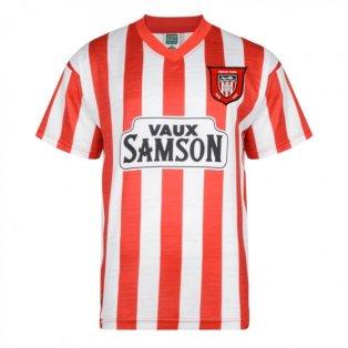 Score Draw Sunderland 1997 Retro Football Shirt