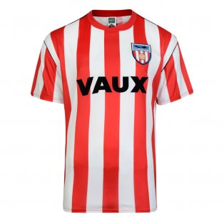 Score Draw Sunderland 1990 Retro Football Shirt