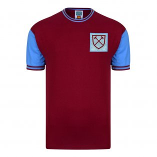 Score Draw West Ham United 1966 No6 Retro Football Shirt