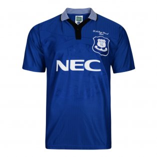 Score Draw Everton 1995 Home FA Cup Retro Football Shirt