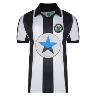 Score Draw Newcastle United 1982 Retro Football Shirt