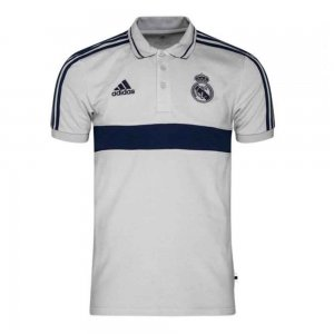 2019-2020 Real Madrid Adidas Polo Shirt (Solid Grey)