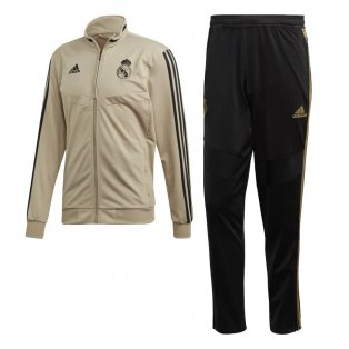 2019-2020 Real Madrid Adidas PES Tracksuit (Gold)