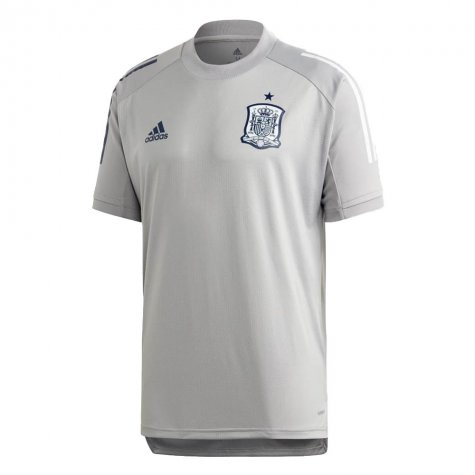 2020-2021 Spain Adidas Training Jersey (Grey)