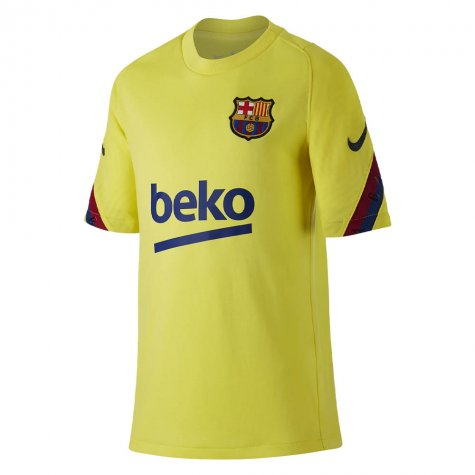 2019-2020 Barcelona Nike Training Shirt (Yellow) - Kids