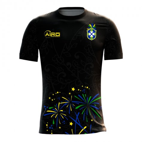 2020-2021 Brazil Third Concept Football Shirt - Womens