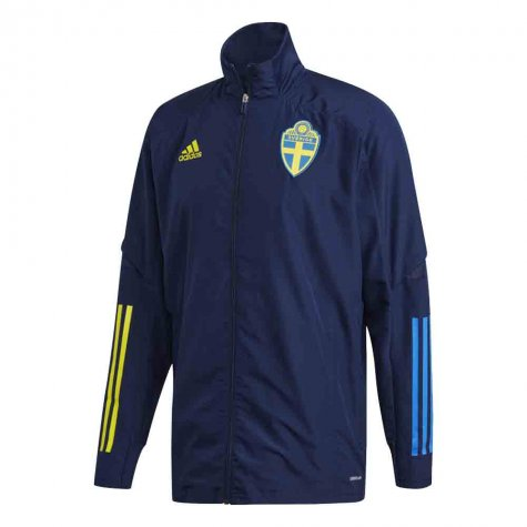 2020-2021 Sweden Adidas Presentation Jacket (Night Indigo)