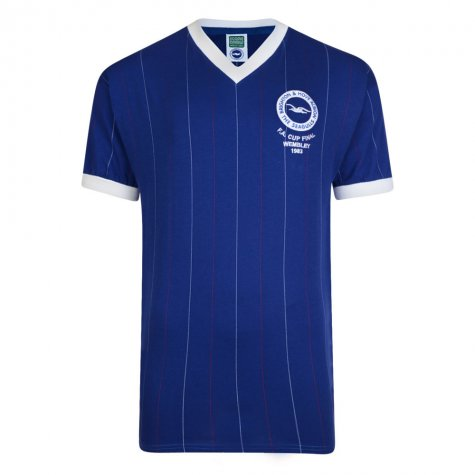 Score Draw Brighton and Hove Albion 1983 FA Cup Final Shirt