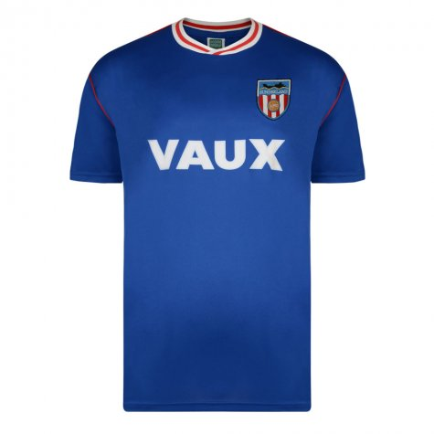 Score Draw Sunderland 1990 Away Football Shirt