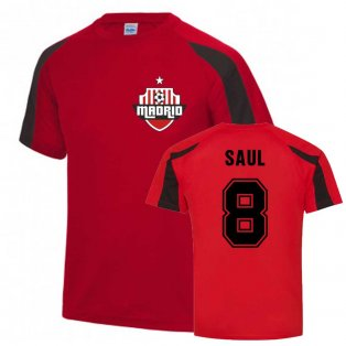 Saul Atletico Madrid Sports Training Jersey (Red)