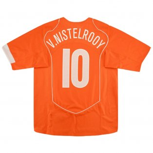 2004-05 Holland Nike Home Shirt (V.NISTELROOY 10) (Excellent)