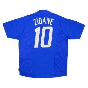 2002-2004 France Adidas Home Shirt (ZIDANE 10) (Excellent)