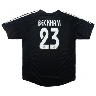 2004-2005 Real Madrid Away Shirt XL (BECKHAM 23) (Excellent)