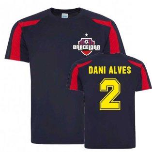 Dani Alves Barcelona Sports Training Jersey (Navy)
